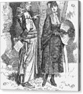 Sweet Girl Graduates, 1880. Artist Acrylic Print