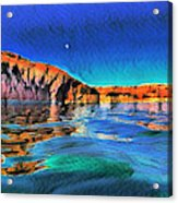 Swells And Reflections Lake Powell Acrylic Print
