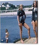 Swimmers At Newport Acrylic Print