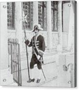 Swiss Guard At St. Marco Church Acrylic Print
