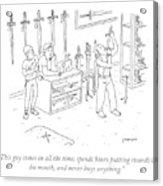 Sword Swallowing Shopper Acrylic Print