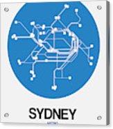 Sydney Blue Subway Map Acrylic Print