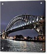 Sydney Harbor Bridge Night View Acrylic Print