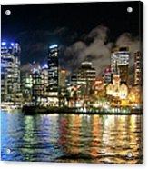 Sydney Harbour At Night - Circular Quay Acrylic Print
