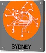 Sydney Orange Subway Map Acrylic Print
