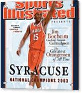 Syracuse University Carmelo Anthony, 2003 Ncaa National Sports Illustrated Cover Acrylic Print