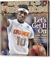 Syracuse University Jonny Flynn, 2009 Ncaa South Regional Sports Illustrated Cover Acrylic Print