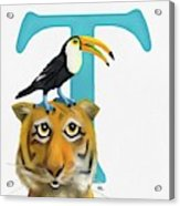 T Is For Two Acrylic Print