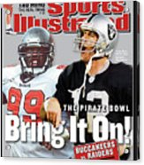 Tampa Bay Buccaneers Vs Oakland Raiders, Super Bowl Xxxvii Sports Illustrated Cover Acrylic Print