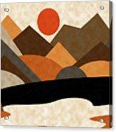 Tangerine Sun Acrylic Print