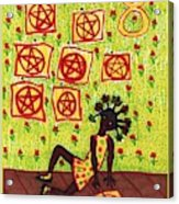 Tarot Of The Younger Self Eight Of Pentacles Acrylic Print