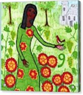 Tarot Of The Younger Self Nine Of Pentacles Acrylic Print