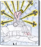 Tarot Of The Younger Self Nine Of Swords Acrylic Print