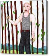 Tarot Of The Younger Self Nine Of Wands Acrylic Print
