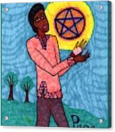 Tarot Of The Younger Self Page Of Pentacles Acrylic Print