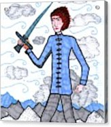 Tarot Of The Younger Self Page Of Swords Acrylic Print