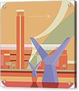 Tate Gallery And Millennium Bridge Acrylic Print