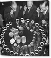 Tea Experts Seated And Testing Teas Acrylic Print