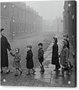Teacher And Pupils In Manchester Acrylic Print