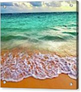 Teal Shore  Acrylic Print