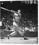 Ted Williams Making A Hit Acrylic Print