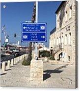Tel-aviv Jaffa Road Sign Acrylic Print