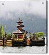 Temple On Lake, Bali Acrylic Print