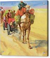 Ten Thousand Mile Motor Race Camel Train Acrylic Print