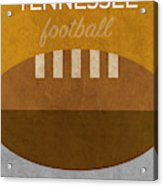 Tennessee Football Minimalist Retro Sports Poster Series 004 Acrylic Print