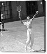 Tennis Player Don Budge Serving Tennis Acrylic Print