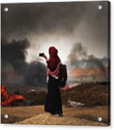 Tensions In Gaza Remain High Acrylic Print