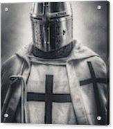 Teutonic Knight Black And White Acrylic Print