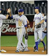 Texas Rangers V New York Yankees, Game 4 Acrylic Print