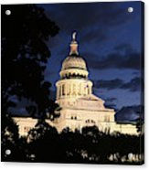 Texas State Capital Dawn Panorama Acrylic Print