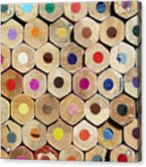 Texture Of Colored Pencils Acrylic Print