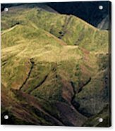 Textured Hills Panoramic Acrylic Print