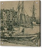 Thames Warehouses, 1859, 1904 Acrylic Print