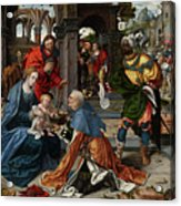 The Adoration Of The Magi With Donor  Acrylic Print
