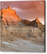 The Badlands With Another Sunrise Acrylic Print