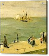 The Beach At Petit-dalles Also Known As On The Beach - 1873 - Virginia Museum Of Fine Arts Usa Acrylic Print
