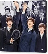 The Beatles 1964 Arrival In New York Acrylic Print
