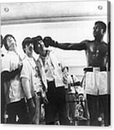 The Beatles And Muhammad Ali In 1964 Acrylic Print