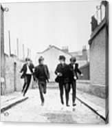 The Beatles Running In A Hard Days Night Acrylic Print