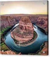 The Bend - Horseshoe Bend At Sunset In Arizona Acrylic Print