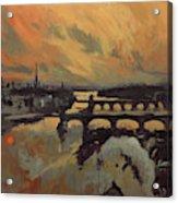The Bridges Of Maastricht Acrylic Print