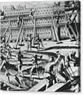 The Building Of Noahs Ark Acrylic Print