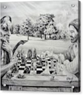 The Chess Game Acrylic Print