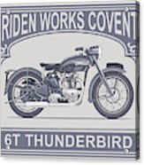 The Classic Thunderbird Motorcycle Acrylic Print