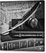 The Constitutional Lawyer In Black And White Acrylic Print
