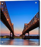 The Crescent City Connection Bridge On Acrylic Print